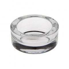 Kerzenhalter, Glas rund Ø 65 mm 27 mm glasklar für Teelichte