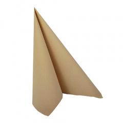 20 Servietten -ROYAL Collection- 1/4-Falz 33 cm x 33 cm sand
