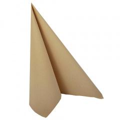 20 Servietten -ROYAL Collection- 1/4-Falz 40 cm x 40 cm sand