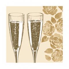 20 Servietten, 3-lagig 1/4-Falz 25 cm x 25 cm Cheers