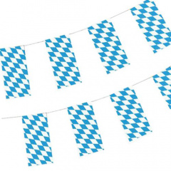 Oktoberfest Flaggenkette, Papier 10 m