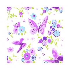 20 Servietten, 3-lagig 1/4-Falz 25 cm x 25 cm Beautiful Butterfly