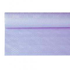 Papiertischtuch mit Damastprägung 8 m x 1,2 m flieder
