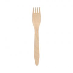 100 Gabeln, Holz pure 16,5 cm