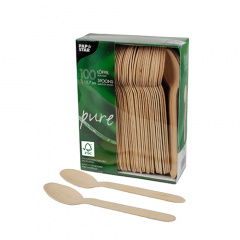 100 Löffel, Holz pure 15,7 cm
