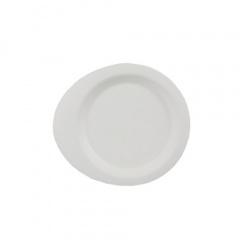 50 Fingerfood - Teller, Zuckerrohr pure 12,4 cm x 11,2 cm weiss