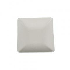 50 Fingerfood - Teller, Zuckerrohr pure eckig 6,5 cm x 6,5 cm weiss