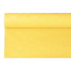 Papiertischtuch mit Damastprägung 6 m x 1,2 m gelb