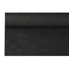 Papiertischtuch mit Damastprägung 6 m x 1,2 m schwarz