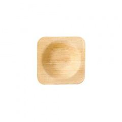 25 Schalen, Palmblatt pure eckig 6 cm x 6 cm x 1,3 cm