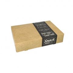 10 Transport- und Catering-Kartons pure eckig 8 cm x 24,7 cm x 35,7 cm Good Food klein
