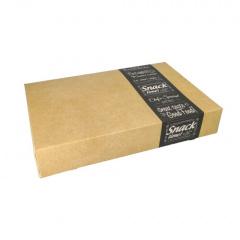 10 Transport- und Catering-Kartons pure eckig 8 cm x 31,3 cm x 46,4 cm Good Food mittel