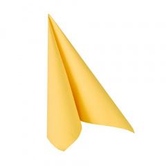 50 Servietten ROYAL Collection 1/4-Falz 25 cm x 25 cm gelb