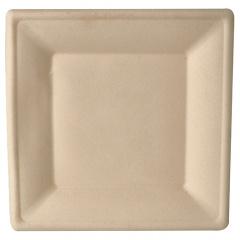 50 Teller, Zuckerrohr pure eckig 26 cm x 26 cm natur