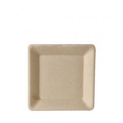 50 Teller, Zuckerrohr pure eckig 15,5 cm x 15,5 cm natur