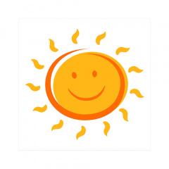 20 Servietten, 3-lagig 1/4-Falz 25 cm x 25 cm Here comes the Sun