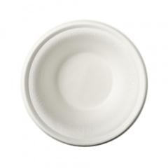 100 Schalen, Zuckerrohr pure 380 ml Ø 15,5 cm · 4,6 cm weiss