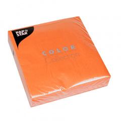 50 Servietten, 3-lagig 1/4-Falz 33 cm x 33 cm nektarine