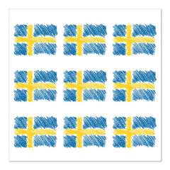 20 Servietten, 3-lagig 1/4-Falz 33 cm x 33 cm Sverigeflagga