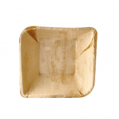 25 Schalen, Palmblatt pure eckig 300 ml 14 cm x 14 cm x 4,5 cm
