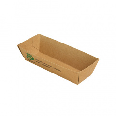 80 Snacktrays, Pappe pure 3 cm x 3,3 cm x 10,5 cm braun 100% Fair