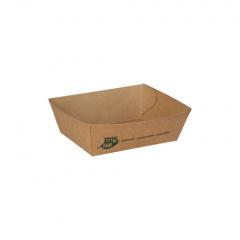 80 Snacktrays, Pappe pure 3,5 cm x 7 cm x 9 cm braun 100% Fair klein