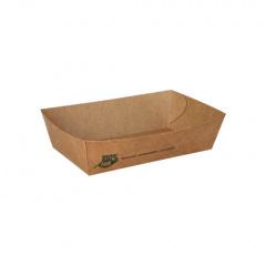80 Snacktrays, Pappe pure 3,5 cm x 12 cm x 7 cm braun 100% Fair mittel