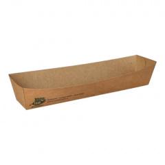 80 Snacktrays, Pappe pure 3 cm x 3,3 cm x 18,5 cm braun 100% Fair