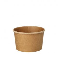 25 Suppenbecher, Pappe pure rund 230 ml Ø 9,8 cm · 6 cm braun 100% Fair