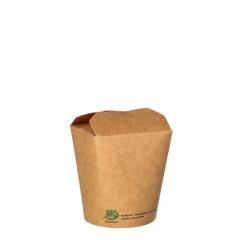 25 Snackboxen, Pappe pure eckig 230 ml 7,5 cm x 6,5 cm x 5,8 cm braun 100% Fair