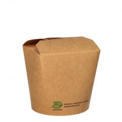 25 Snackboxen, Pappe pure eckig 760 ml 9,8 cm x 10 cm x 8,8 cm braun 100% Fair