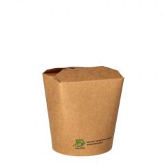 25 Snackboxen, Pappe pure eckig 470 ml 9,8 cm x 8,2 cm x 7 cm braun 100% Fair