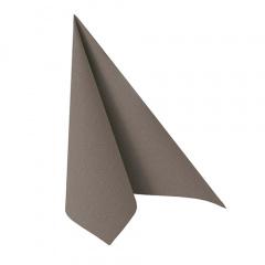 50 Servietten ROYAL Collection 1/4-Falz 33 cm x 33 cm grau