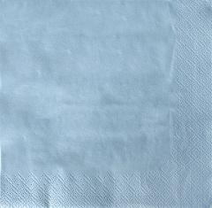 20 Servietten, 3-lagig 1/4-Falz 33 cm x 33 cm hellblau