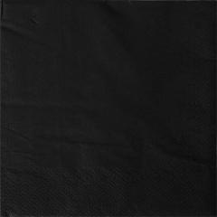 20 Servietten, 3-lagig 1/4-Falz 33 cm x 33 cm schwarz
