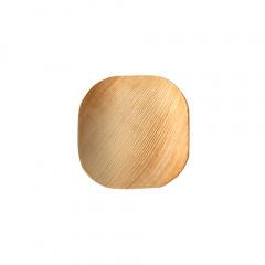 25 Teller, Palmblatt pure eckig 10 cm x 10 cm x 1,5 cm