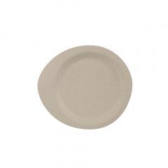 50 Fingerfood - Teller, Zuckerrohr pure 12,4 cm x 11,2 cm natur