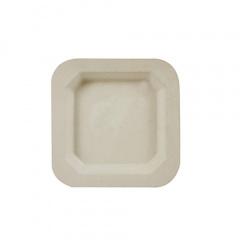 50 Fingerfood - Teller, Zuckerrohr pure eckig 13 cm x 13 cm natur