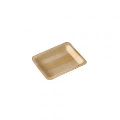 50 Fingerfood - Teller, Holz pure eckig 12 cm x 9,5 cm