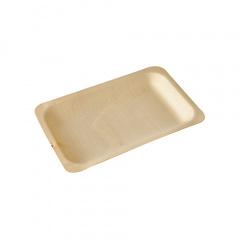 50 Fingerfood - Teller, Holz pure eckig 19,5 cm x 14 cm