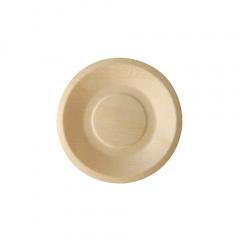 50 Fingerfood - Teller, Holz pure rund Ø 14 cm · 2 cm
