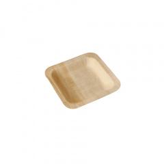 50 Fingerfood - Teller, Holz pure eckig 14 cm x 14 cm