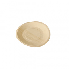 50 Fingerfood - Teller, Holz pure rund Ø 19 cm · 2 cm