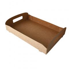 10 Tragetabletts, Pappe pure 4,5 cm x 35 cm x 24 cm braun 100% Fair