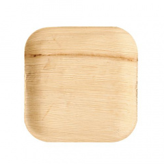 25 Teller, Palmblatt pure eckig 18 cm x 18 cm x 1,5 cm