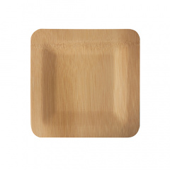 10 Teller, Bambus pure eckig 1,5 cm x 18 cm x 18 cm