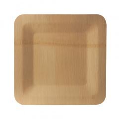 10 Teller, Bambus pure eckig 1,5 cm x 23 cm x 23 cm
