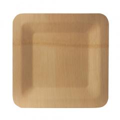 10 Teller, Bambus pure eckig 1,5 cm x 25,5 cm x 25,5 cm