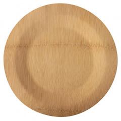 10 Teller, Bambus pure rund Ø 28 cm · 1,5 cm