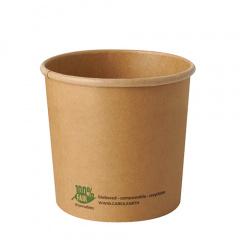 25 Suppenbecher, Pappe pure rund 760 ml Ø 11,5 cm · 11 cm braun 100% Fair